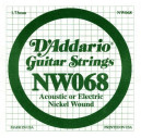 NW068 XL Nickel Wound 068 Струна для электрогитар