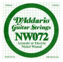 NW072 XL Nickel Wound 072 Струна для электрогитар
