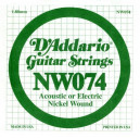 NW074 XL Nickel Wound 074 Струна для электрогитар